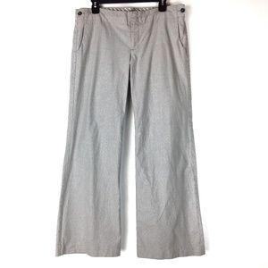 Grey striped Gap flare leg pants